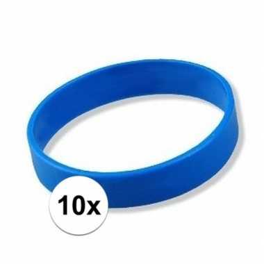 10x blauwe armbandjes