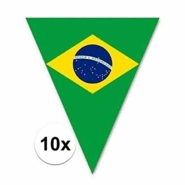 10x braziliaanse decoratie vlaggenlijnen