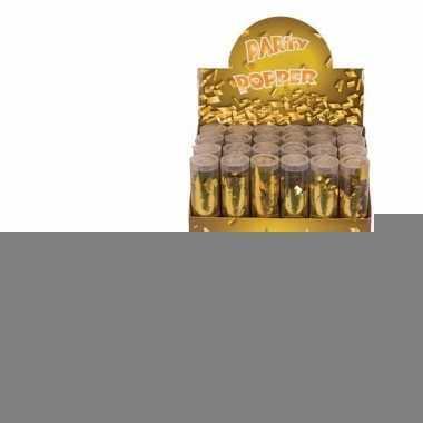 10x confetti kanon goud 20 cm