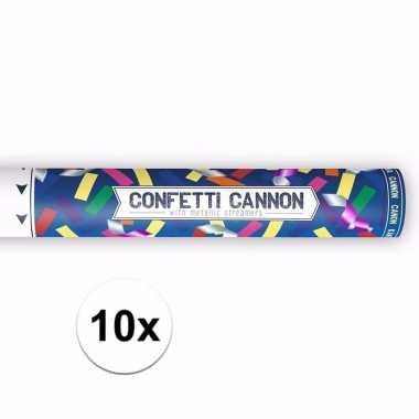 10x confetti kanon mix kleuren 40 cm