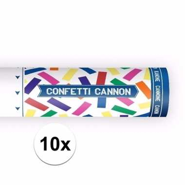 10x confetti kanon mix kleuren pakket 20 cm