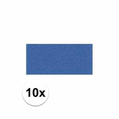 10x crepla foam rubber plaat blauw