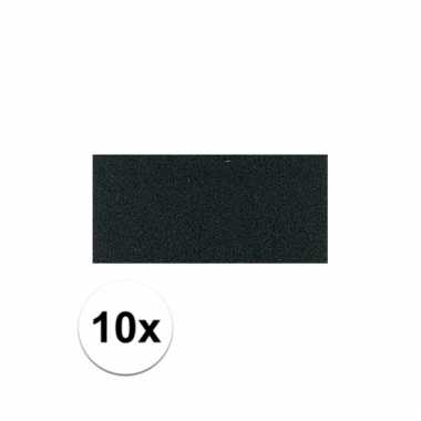 10x crepla foam rubber plaat zwart