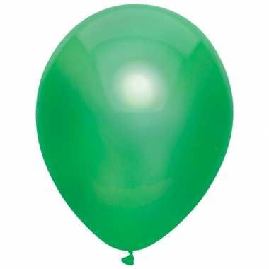 10x donkergroene metallic heliumballonnen 30 cm