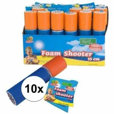 10x foam waterspuit/waterpistool 15 cm