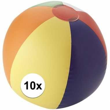 10x gekleurde strandballen
