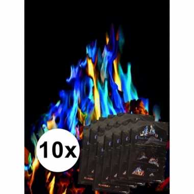10x gekleurde vlammen mystical fire