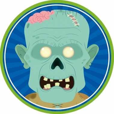 10x halloween onderzetters/bierviltjes zombies