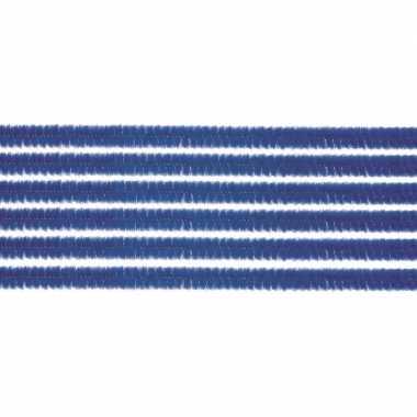 10x hobby chenille draad blauw 50 cm