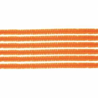 10x hobby chenille draad oranje 50 cm