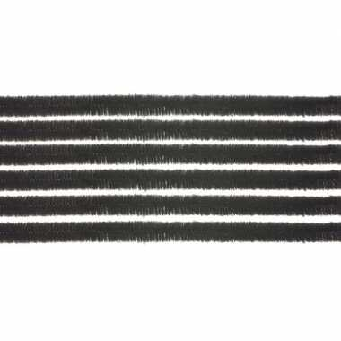 10x hobby chenille draad zwart 50 cm