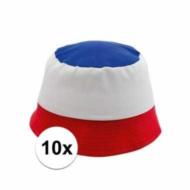 10x hoedjes in franse kleuren