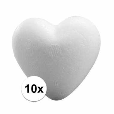 10x knutsel harten piepschuim 12 cm