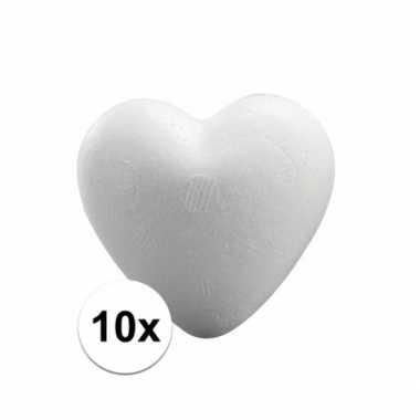 10x knutsel hartjes piepschuim 5 cm