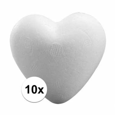 10x knutsel hartjes piepschuim 9 cm