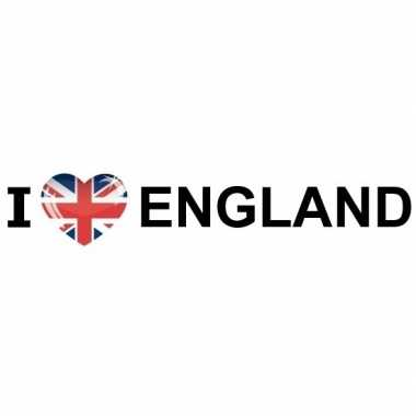 10x landen sticker i love england