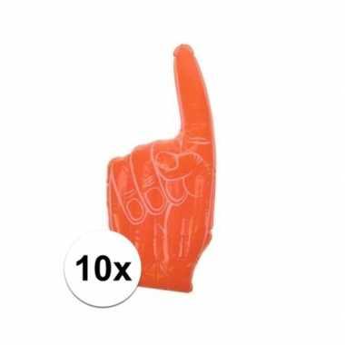 10x opblaasbare holland handen 55 x 23 cm