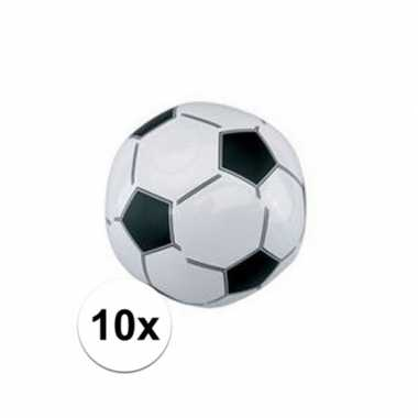 10x opblaasbare strandbal voetbal