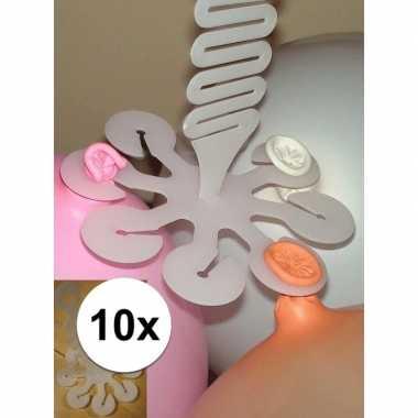 10x ophangsystemen voor 16 ballonnen