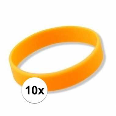 10x oranje armbandjes