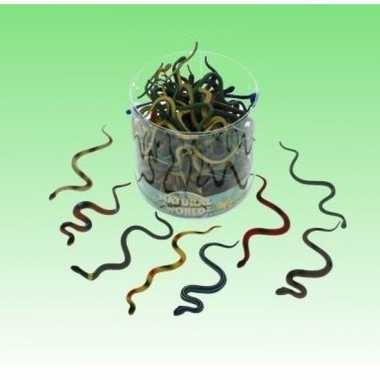 10x plastic dieren slangen 15 cm