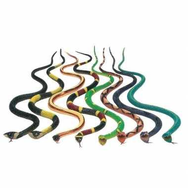 10x plastic dieren slangen 30 cm