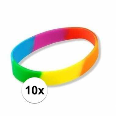 10x regenboogarmbandjes
