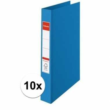 10x ringmappen blauw a4 2 gaats