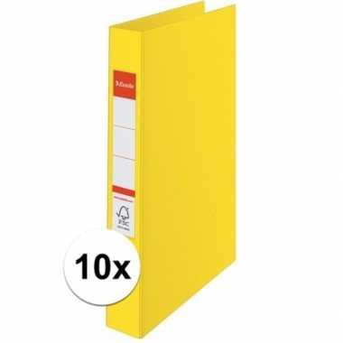 10x ringmappen geel a4 2 gaats