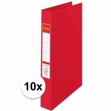10x ringmappen rood a4 2 gaats