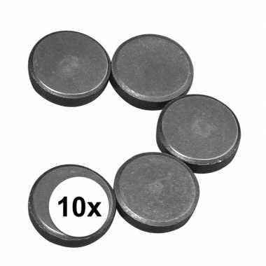 10x ronde hobby magneten 20 x 5 mm