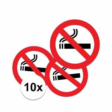 10x rookverbod stickers