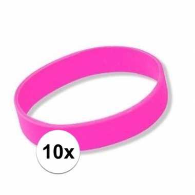 10x roze armbandjes