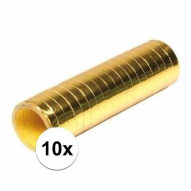 10x serpentine rolletjes goudkleurig
