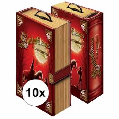 10x sinterklaas cadeauverpakking boek doos