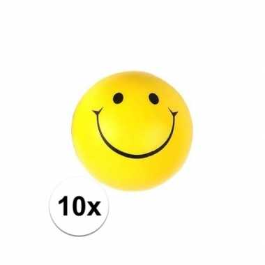 10x smiley stressbal