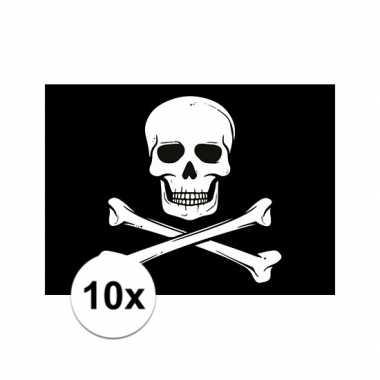 10x stickertjes piraten thema