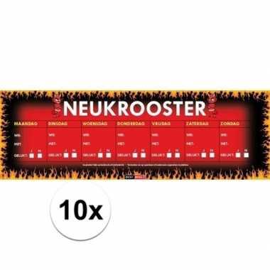 10x sticky devil neukrooster, per week