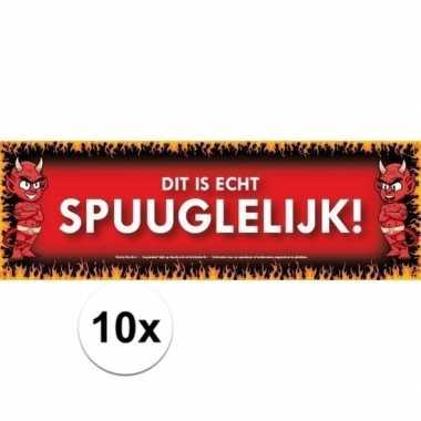10x sticky devil spuuglelijk