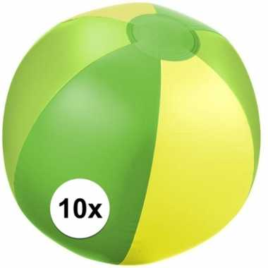 10x strandbal opblaasbaar groen