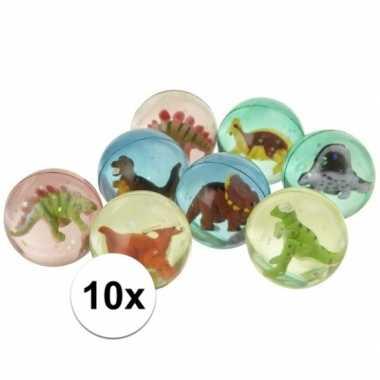 10x stuiterbal met dinosaurus
