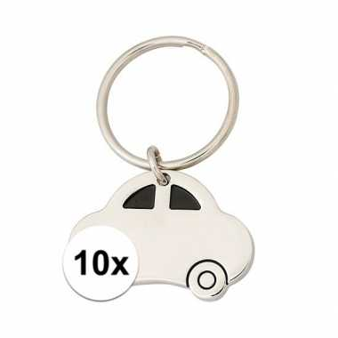 10x stuks auto sleutelhanger 4,5 cm