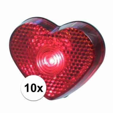 10x stuks hartjes led lampje