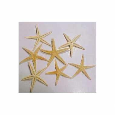 10x stuks home deco of maritieme versiering zeesterren van 10 cm