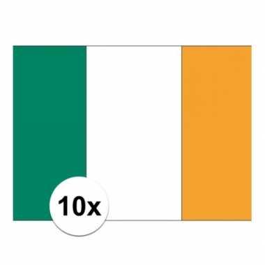 10x stuks stickertjes van vlag van ierland