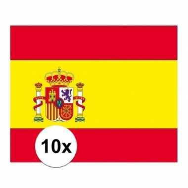 10x stuks stickertjes van vlag van spanje