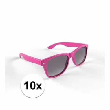 10x trendy zonnebrillen roze voor volwassenen