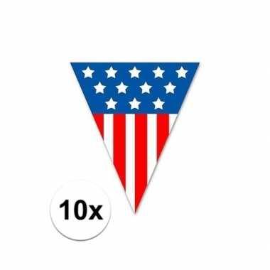 10x usa vlaggenlijnen 5 meter