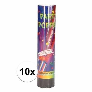 10x voordelige party poppers 20 cm