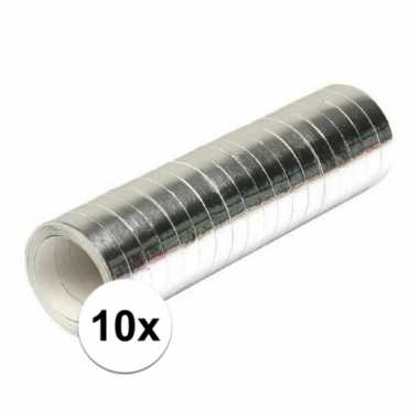 10x zilveren serpentine rollen